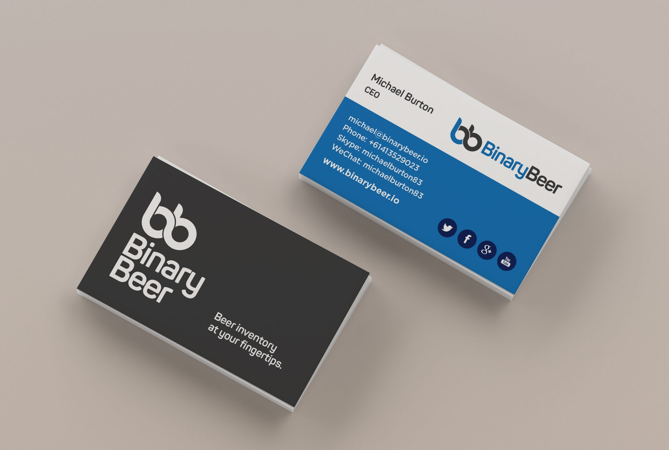 Binary Beer business card design